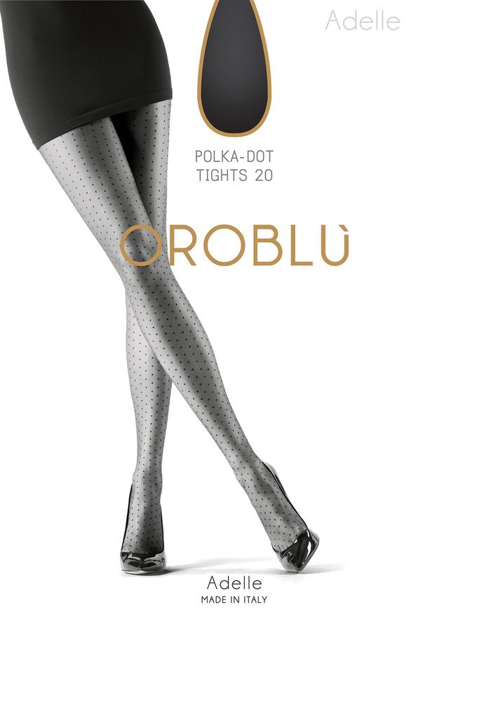 Adelle - 20 denier polka dot fashionpanty