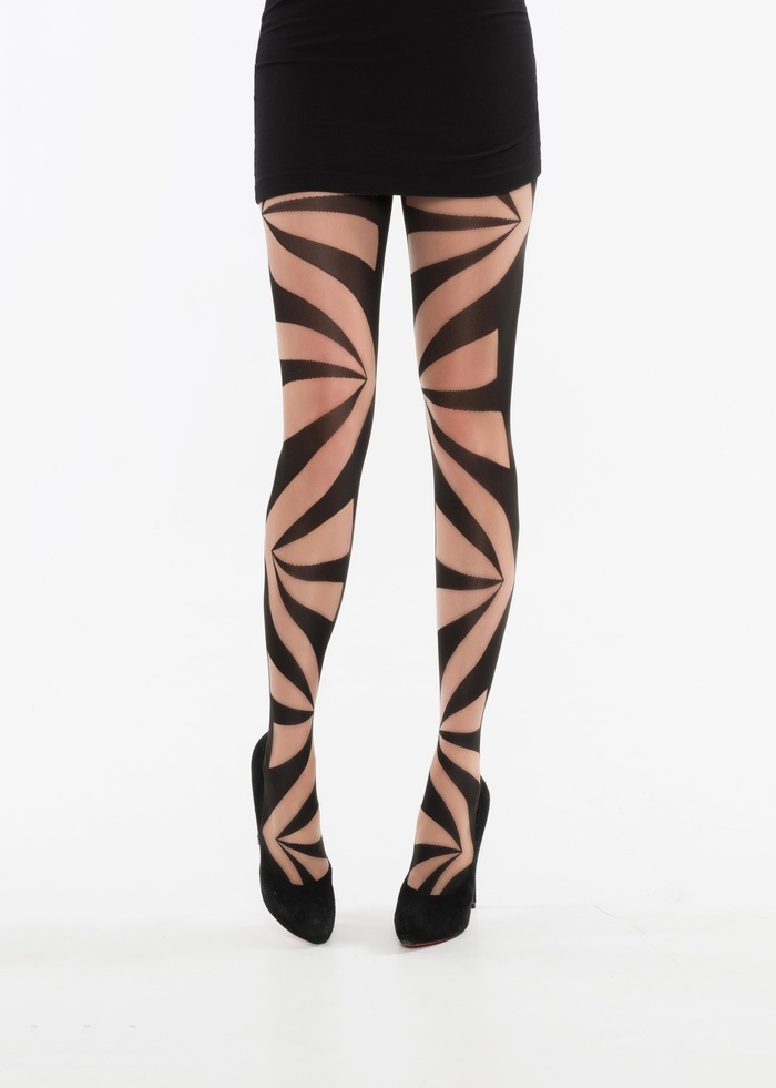 Brooke - 60 denier geometrische fashionpanty