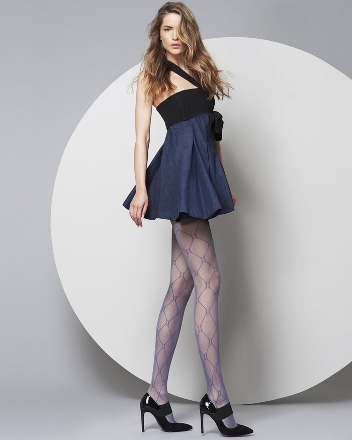Rebecca - 20 denier fashionpanty ruit