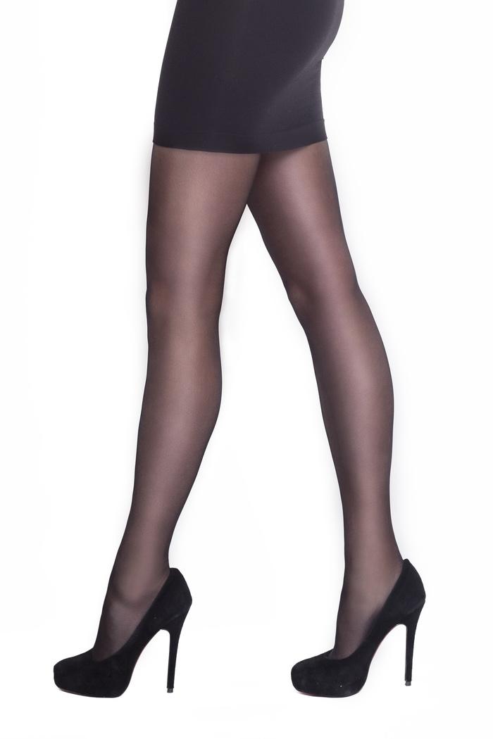 Style - 20 denier panty met geborduurd broekje