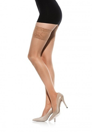 Marilyn - 30 denier Sheer stay-up met compressie